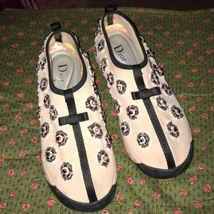 Dior embellished pink sneaker shoe size 38=7-7.5